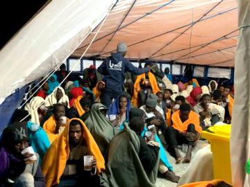 Migrantes rescatados