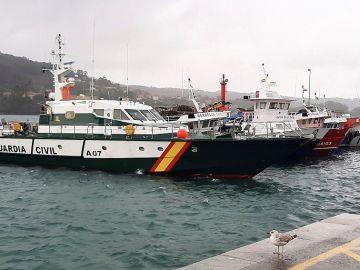 Vista general del puerto del Aldán, en el municipio pontevedrés de Cangas de Morrazo