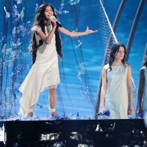 Melani Garcia, respresentante de España, durante su actuación en Eurovisión Junior