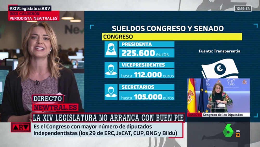 Estos son los sueldos de los diputados del Congreso en la nueva legislatura