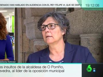"""La alcaldesa socialista de O Porriño insulta al líder de la oposición, del PP, tras acusarla de mentir: """"¡Y tú, cabrón!"""""""