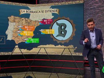 La gota fría se desplaza a Cataluña y Baleares: lluvias, rachas de viento y fuerte oleaje