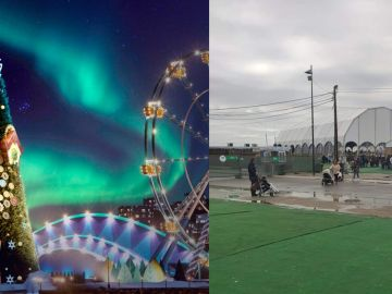 Imagen promocional de Capital do Natal y fotografía tomada por una visitante