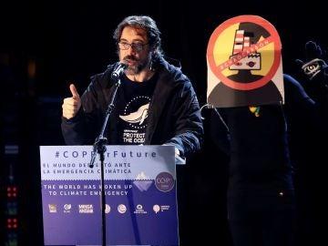 Javier Bardem, en la Marcha por el Clima