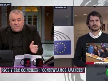 """Ernest Urtasun (Catalunya en Comú): """"ERC tiene que dejar de mirar de reojo a Puigdemont y dar un paso adelante"""""""