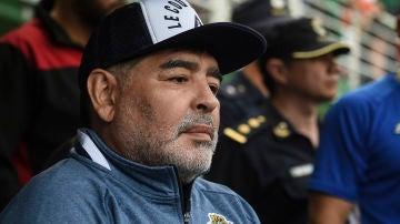 Diego Armando Maradona, durante un partido del Club de Gimnasia y Esgrima La Plata