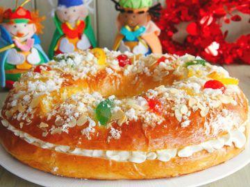 Roscón de Reyes con nata