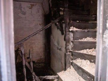 Imagen de la vivienda en la que han fallecido dos personas a causa de un incendio