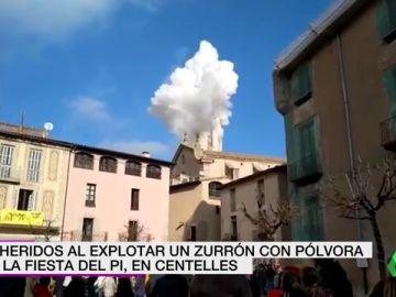 Al menos 14 heridos tras una explosión pirotécnica en la Fiesta del Pi en Centelles