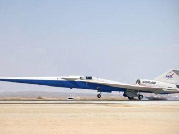 Ilustración del avión X-59