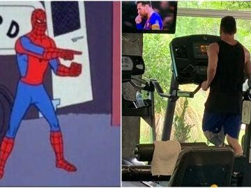 Meme de Spiderman y Lionel Messi