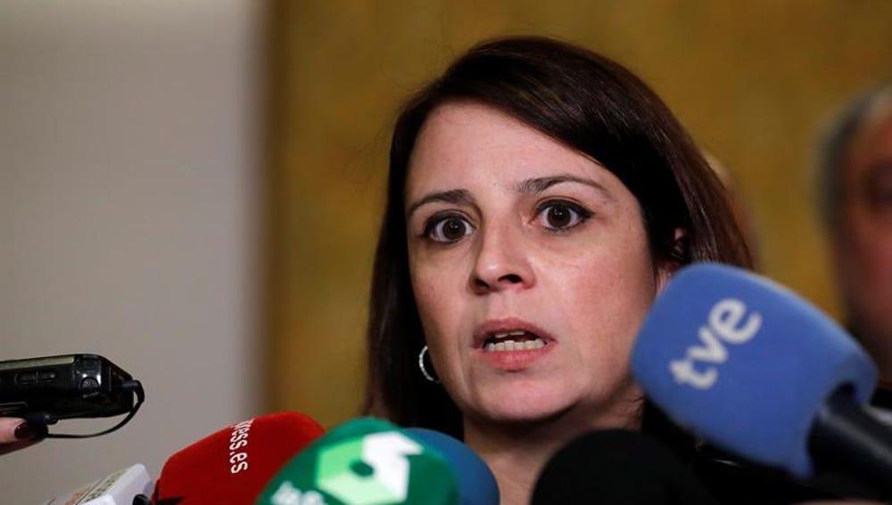 La portavoz del PSOE en el Congreso, Adriana Lastra.