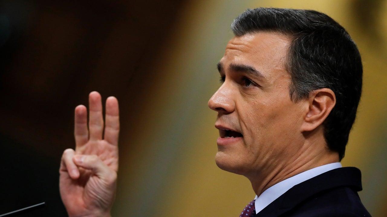 El candidato a la Presidencia del Gobierno, Pedro Sánchez