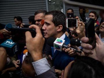 El hasta ahora presidente de la Asamblea Nacional, Juan Guaidó