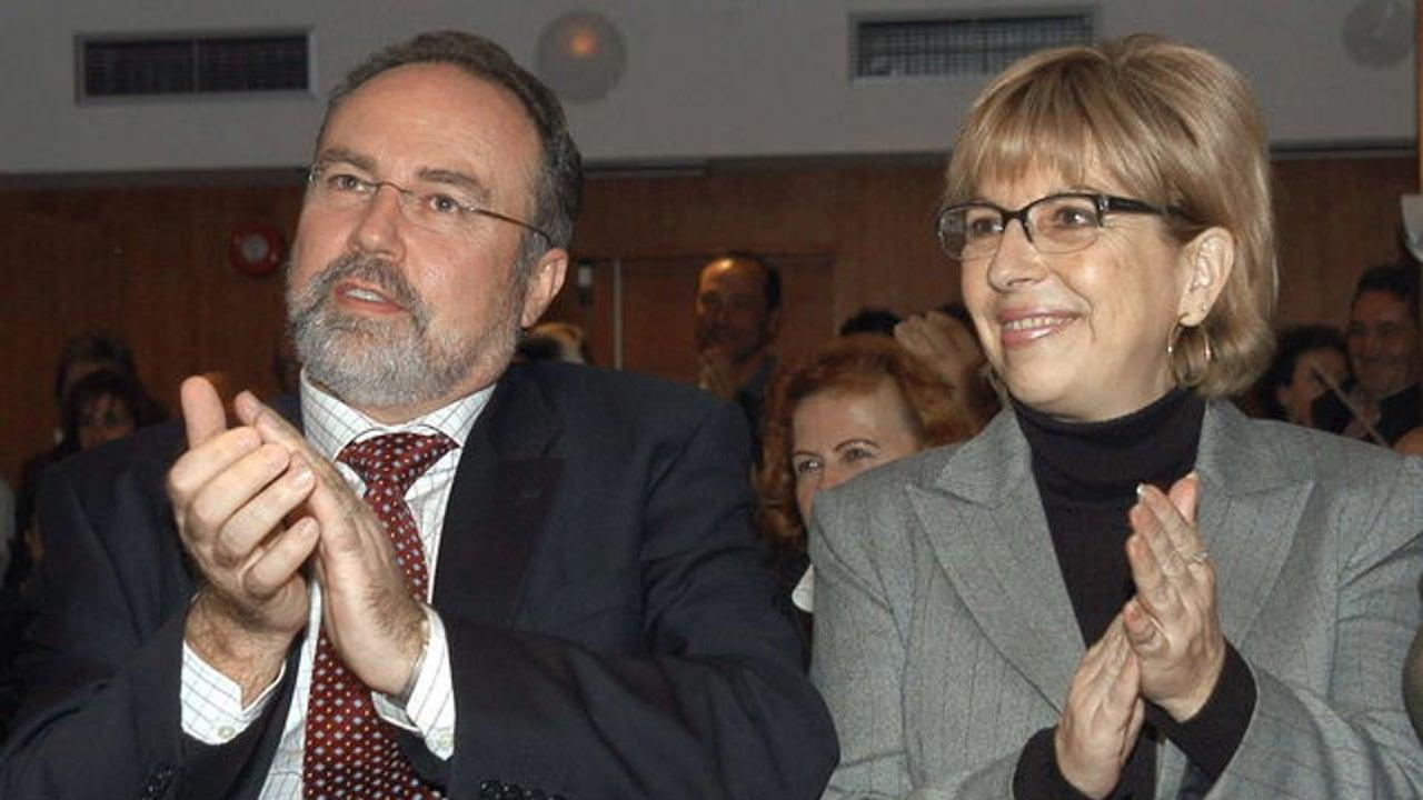 Los entonces diputados Eduardo Tamayo y María Teresa Sáez