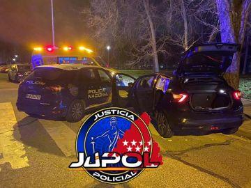 Agentes de la Policía Nacional sospecharon del vehículo, al que dieron el alto