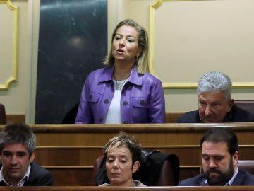 Ana Oramas votando en la investidura de Pedro Sánchez