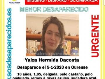 Joven desaparecida en Ourense