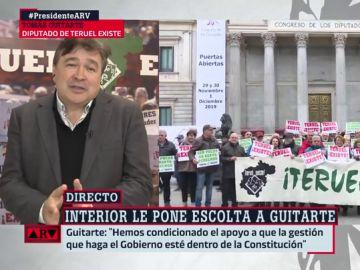 """Tomás Guitarte (Teruel Existe) habla de las presiones que ha recibido: """"Nos veían débiles, pero somos firmes en nuestras convicciones"""""""