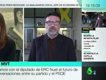"""Joan Josep Nuet (ERC): """"Hay cientos de miles de catalanes que piensan lo que dijo Montserrat Bassa"""""""