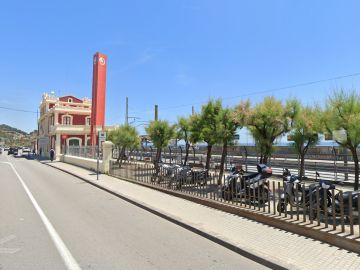 La estación de Rodalies en Montgat, donde el conductor ha tenido que finalizar su jornada.