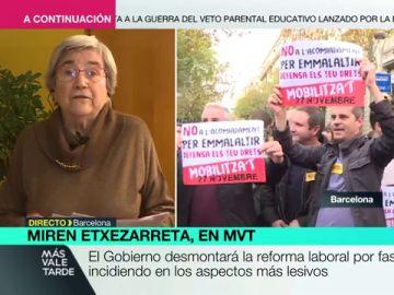"""Miren Etxezarreta, economista: """"La reforma laboral se tiene que derogar en su totalidad, no a trozos por no enfrentarse a los empresarios"""""""