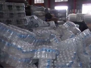 Imagen del almacén de ayuda humanitaria hallado en Puerto Rico