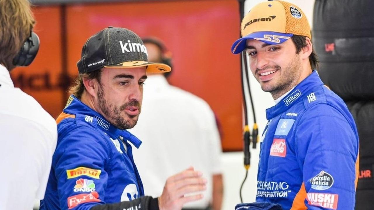 Fernando Alonso y Carlos Sainz Jr.