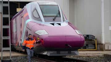 Una locomotora de AVLO