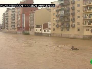 Cataluña sufre los efectos del temporal: importantes destrozos y calles anegadas