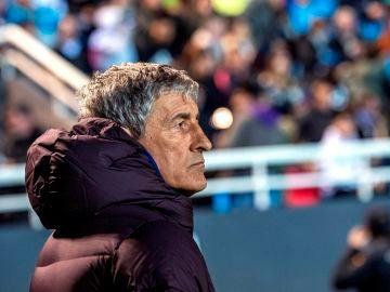 Quique Setién, en el partido contra el Ibiza.