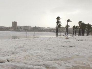 Efectos del temporal en Jávea, Alicante
