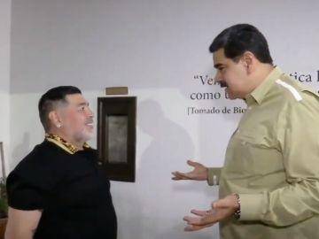 Maradona, junto a Nicolás Maduro