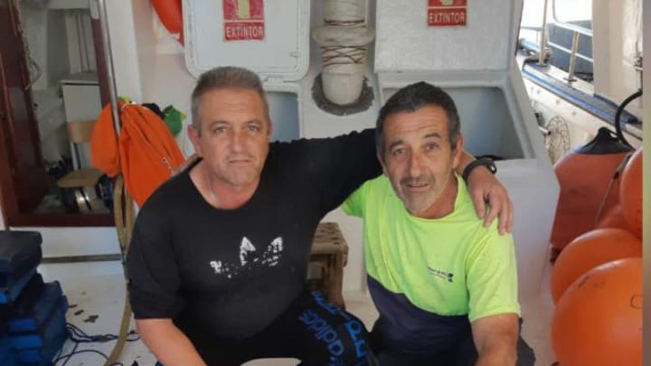 Dos de los miembros de la tripulación del pesquero desaparecido, el Rúa Mar