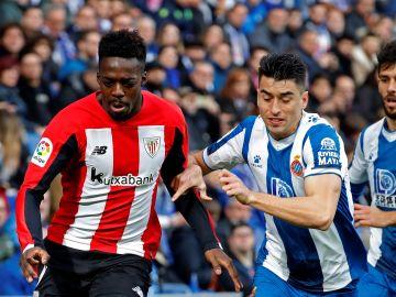 Iñaki Williams, en acción durante el partido contra el Espanyol