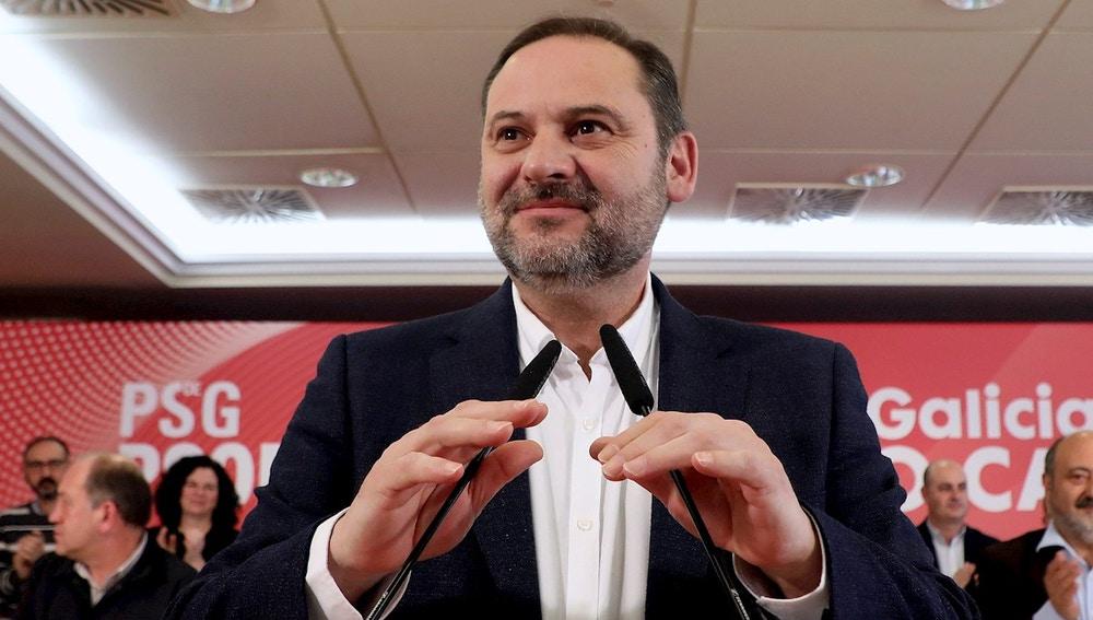 José Luis Ábalos en un acto del PSOE