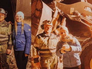 Imagen de Lonia junto a un amigo y su 'match' tras el rescate.