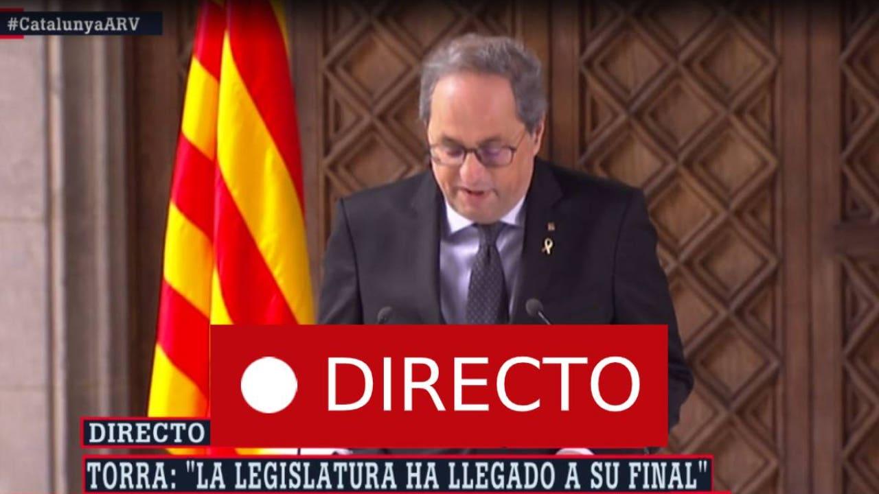 Elecciones Cataluña   Torra convocará elecciones tras la aprobación de presupuestos, en directo