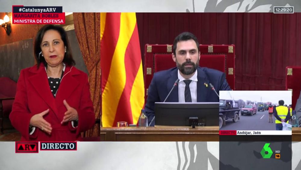 """Margarita Robles, sobre Torra: """"Las instituciones están muy por encima de las personas"""""""