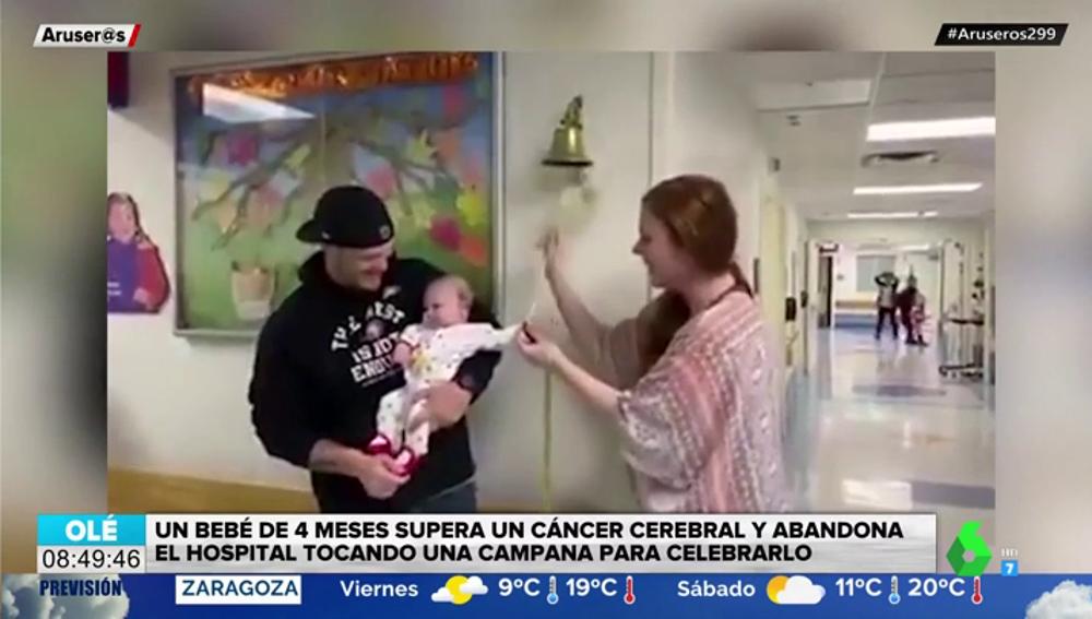 El emotivo vídeo de un bebé de cuatro meses tras superar un cáncer cerebral