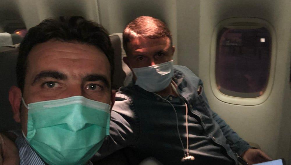 Las primeras imágenes de los españoles repatriados desde Wuhan
