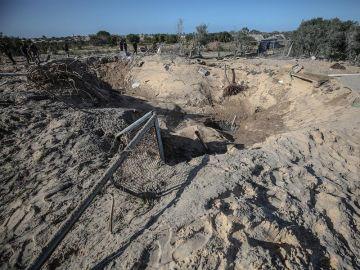 Imagen de la ciudad de Rafah, al sur de Gaza, tras uno e los ataques aéreos israelí.