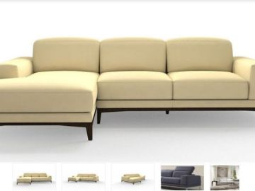 Imagen del sofá que Natuzzi vendió por error a tres euros