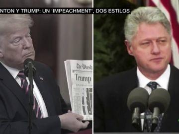 Clinton y Trump: dos formas opuestas de entender la absolución en el 'impeachment'