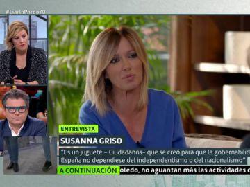 """Susanna Griso, sobre Cs: """"Es un juguete que se creó para que la goibernabilidad de España no dependiera del independentismo"""""""