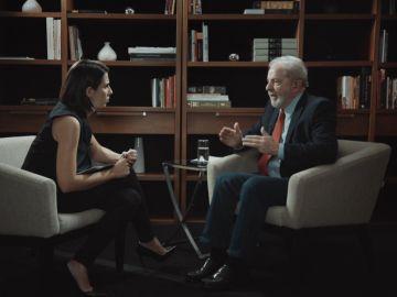 Lula da Silva y Ana Pastor en la entrevista en El Objetivo