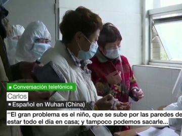 Carlos, uno de los cinco españoles que no han podido salir de Wuhan