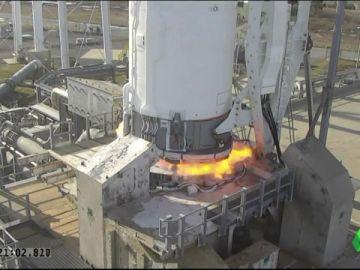Imagen del cohete 'Antares' que ha llevado queso manchego al espacio