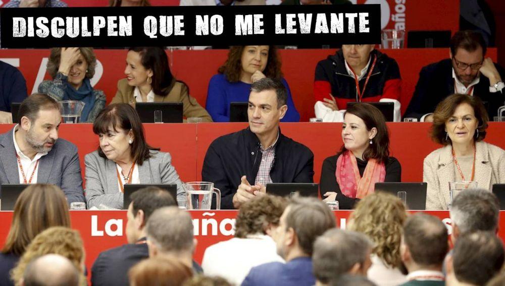 El presidente del Gobierno junto a varios miembros del Ejecutivo y del PSOE en el Comité Federal