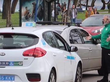 La pelea entre el taxista y un aficionado del Racing